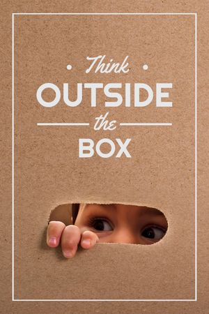 Plantilla de diseño de Children Creative Thinking Quote Tumblr