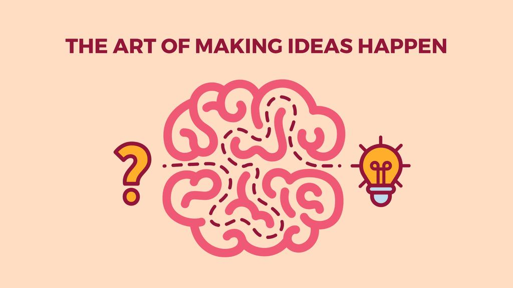Creative Idea Icon with Brain | Full Hd Video Template — Maak een ontwerp
