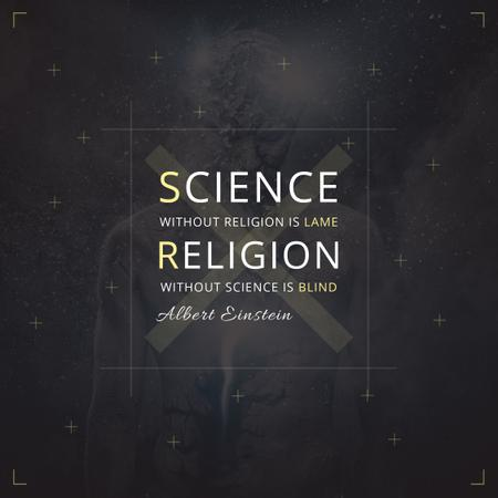 Plantilla de diseño de Citation about science and religion Instagram