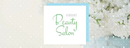 Beauty Salon Ad with Tender Flowers Facebook cover Modelo de Design