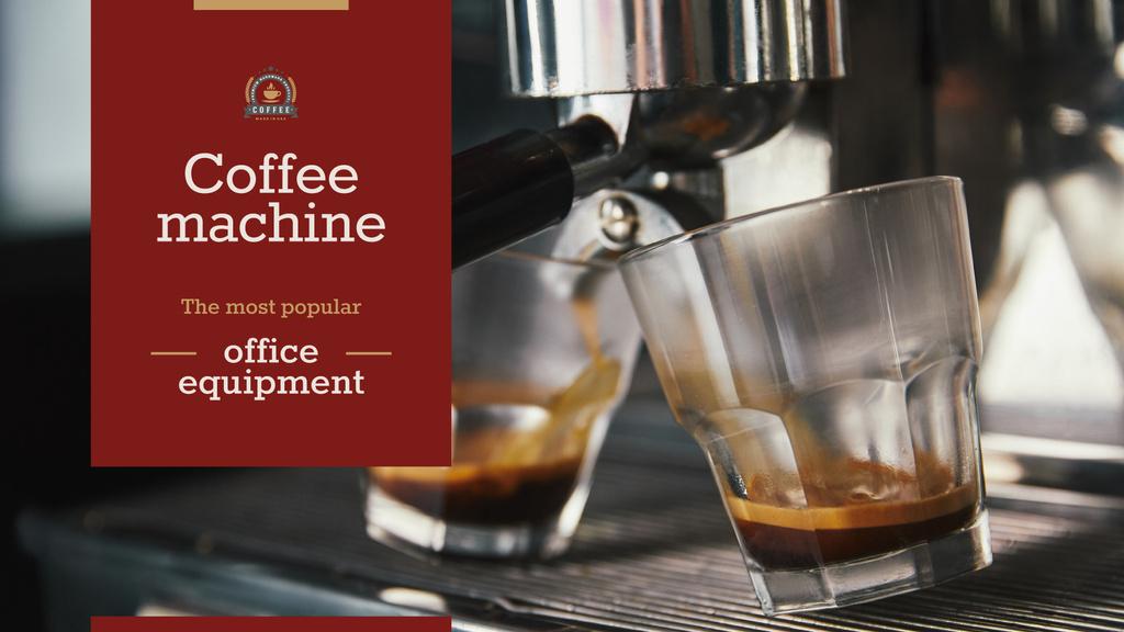 Coffee Machine Sale Brewing Drink — Modelo de projeto