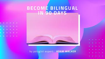 Language Course Ad with Open Book
