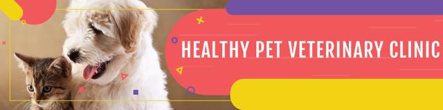 Modèle de visuel Healthy pet veterinary clinic - Twitter