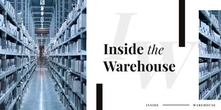 Shelves in warehouse interior Image – шаблон для дизайна