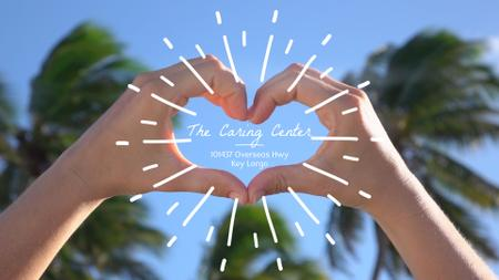 Plantilla de diseño de Caring Service Hands Showing Heart Sign Full HD video