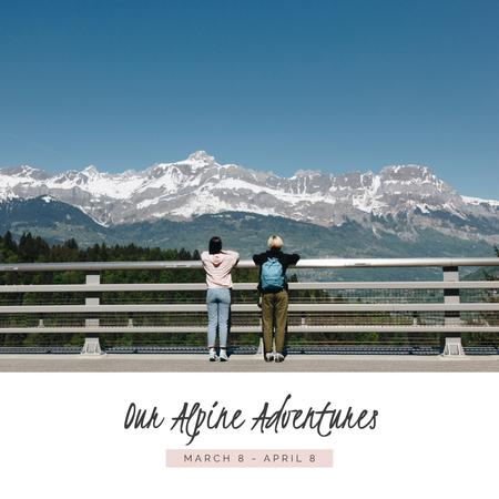 Template di design Adventure in Apline snowy Mountains Photo Book
