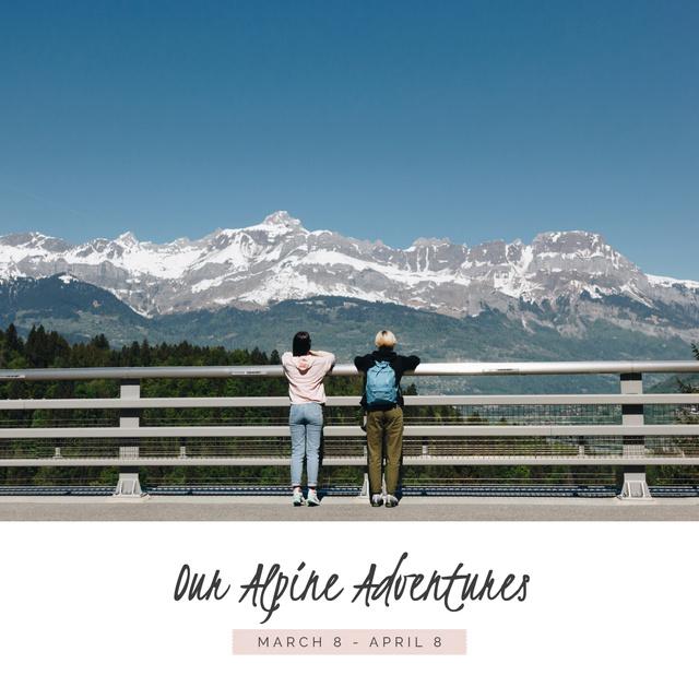Plantilla de diseño de Adventure in Apline snowy Mountains Photo Book