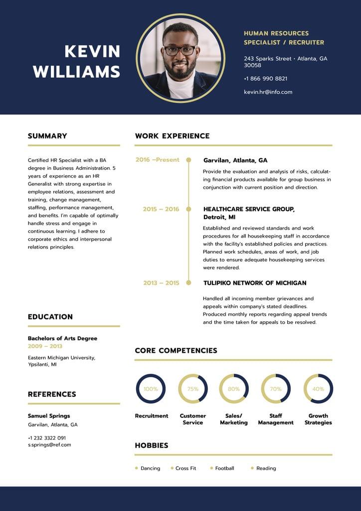 Human resources specialist skills and experience — Maak een ontwerp