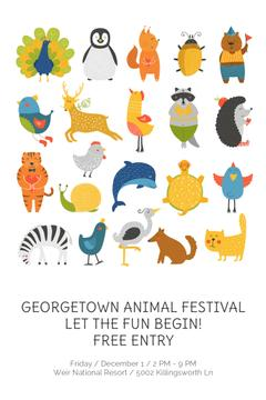 Animal Festival Announcement Animals Icon