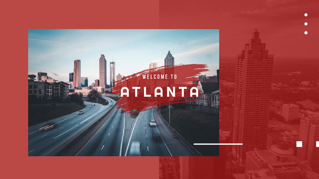 Atlanta city view — Створити дизайн