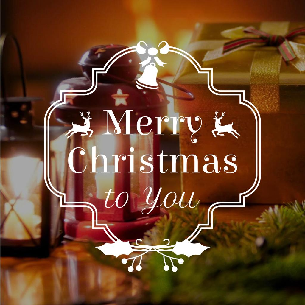 Christmas decoration by fireplace — Crear un diseño