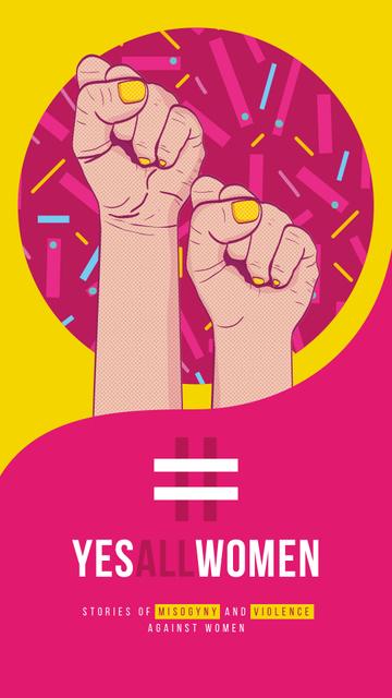 Plantilla de diseño de Rebel female hands Instagram Story