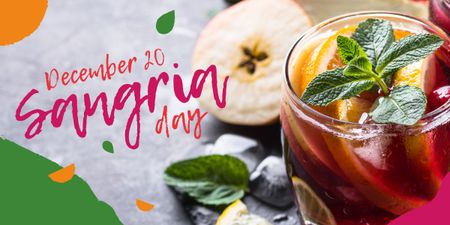 Sangria drink day Image Modelo de Design