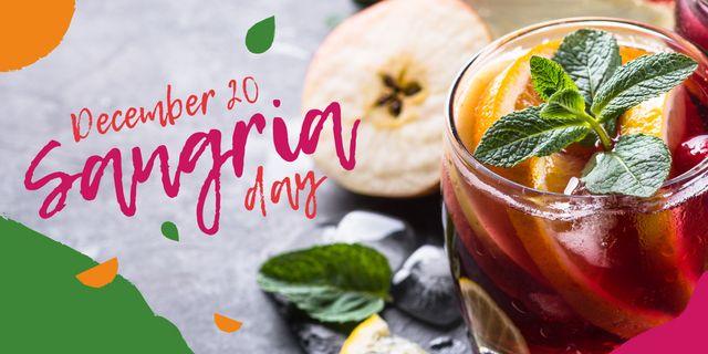 Sangria drink day Image Design Template