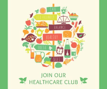 Template di design Healthcare club poster Large Rectangle