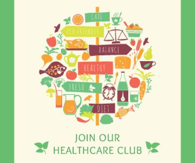 Plantilla de diseño de Healthcare club poster Large Rectangle