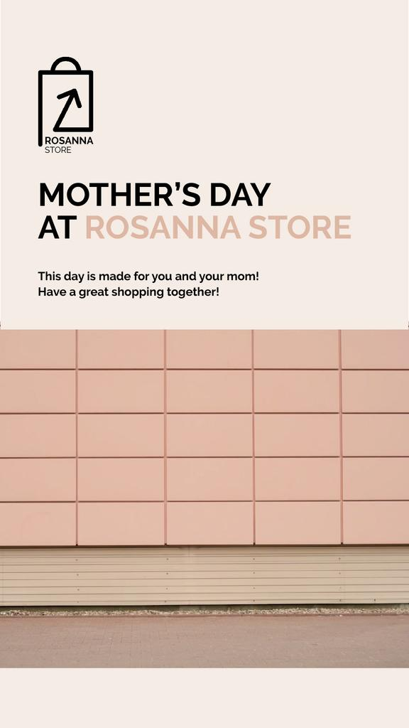Mother's Day Deal with Women Riding in Shopping Cart — Crear un diseño