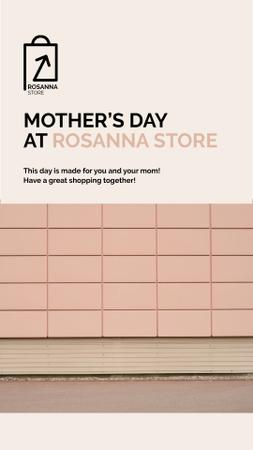 Template di design Mother's Day Deal with Women Riding in Shopping Cart Instagram Video Story