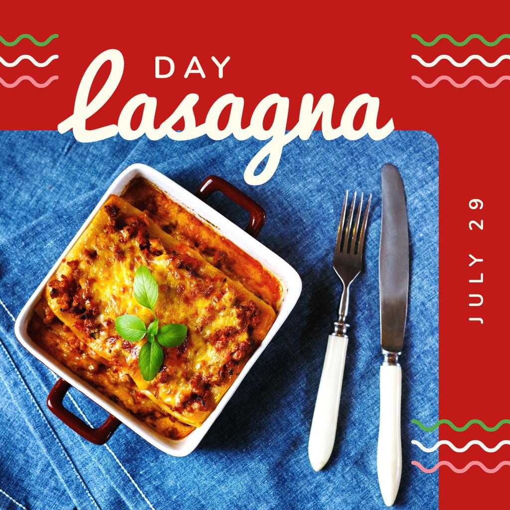 Italian lasagna dish — Создать дизайн