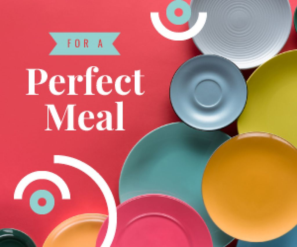Kitchen Ceramic Tableware Store Ad | Medium Rectangle Template — Create a Design