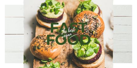 Template di design Mouthwatering fast food burgers Image