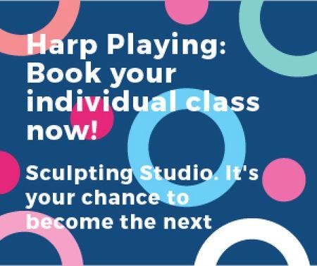 Sculpting Studio poster Medium Rectangle Modelo de Design
