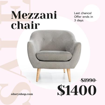 Cozy Armchair Offer Instagram Tasarım Şablonu