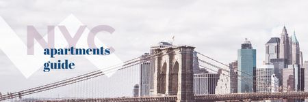 Ontwerpsjabloon van Email header van New York City Real Estate Ad