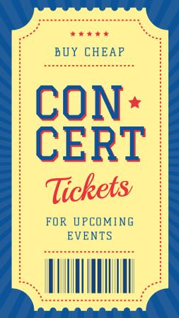 Event ticket on Concert Instagram Story – шаблон для дизайна