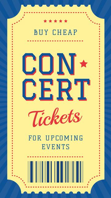 Modèle de visuel Event ticket on Concert - Instagram Story