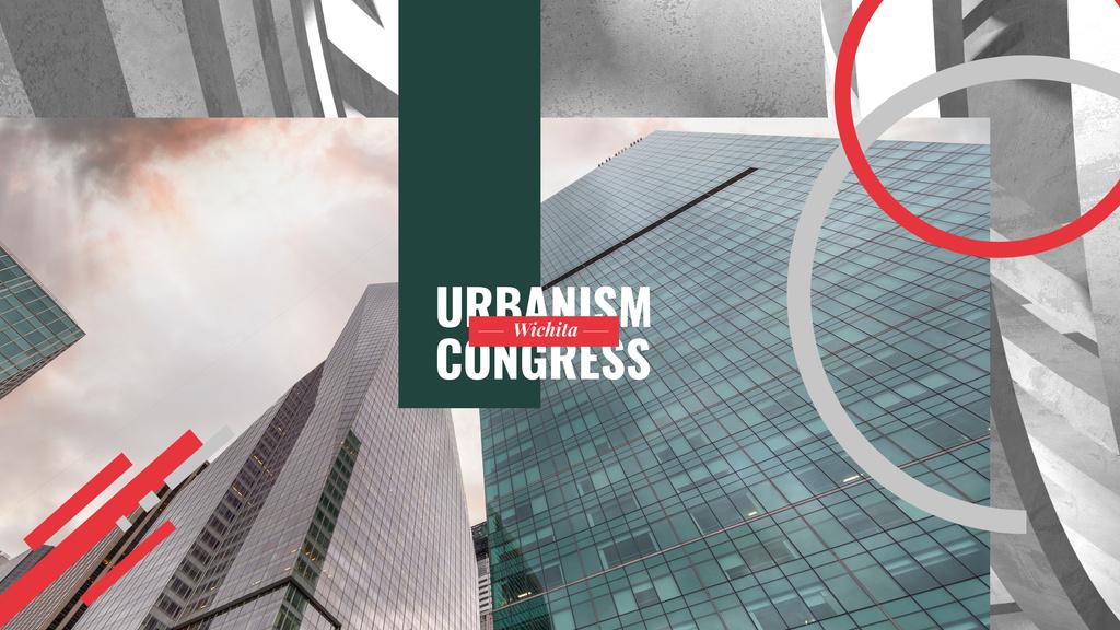 Urbanism Conference Advertisement Modern Skyscrapers — Создать дизайн