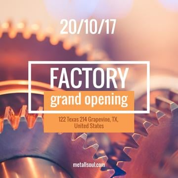 Factory Opening Announcement Mechanism Cogwheels