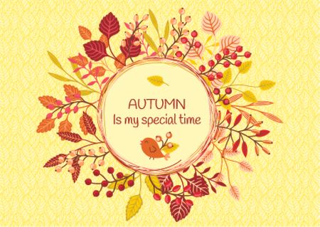 Autumn is my special time banner Card Design Template