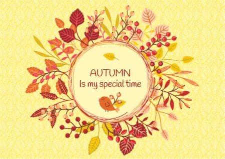 Designvorlage Autumn is my special time banner für Card