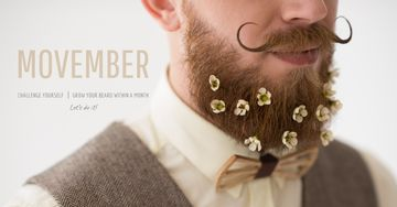 Movember with Man with mustache and beard
