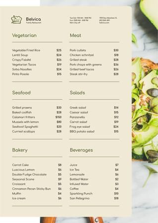 Template di design Toast with Avocado and seeds Menu