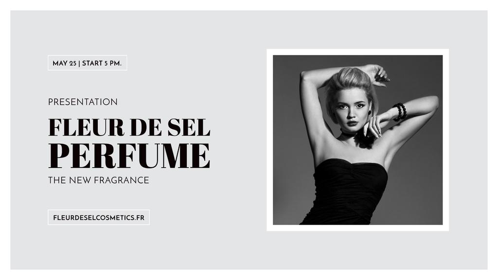 Perfume ad with Fashionable Woman in Black — Створити дизайн