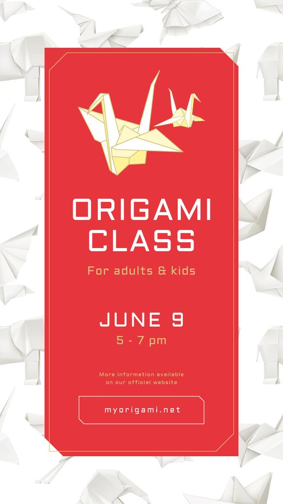 Art classes Annoucement with Origami paper animals - Bir Tasarım Oluşturun