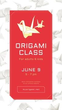 Art classes Annoucement with Origami paper animals
