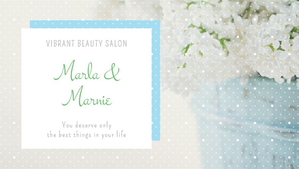Beauty studio ad with Spring Flowers — Create a Design