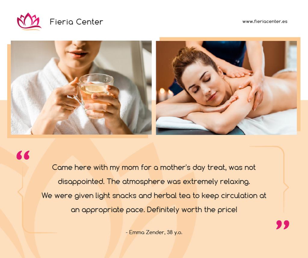 Spa Center Promotion Woman at Massage — Crear un diseño
