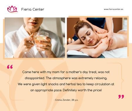 Spa Center Promotion Woman at Massage Facebook – шаблон для дизайну