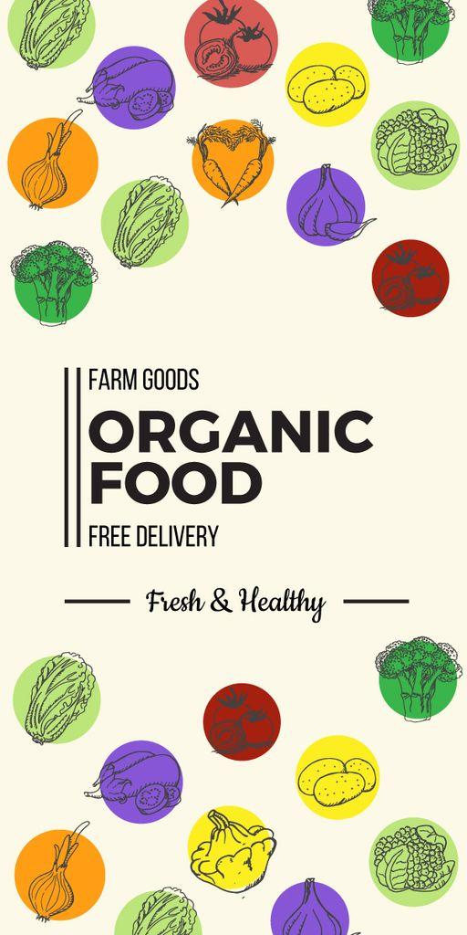 Organic food delivery banner — ein Design erstellen