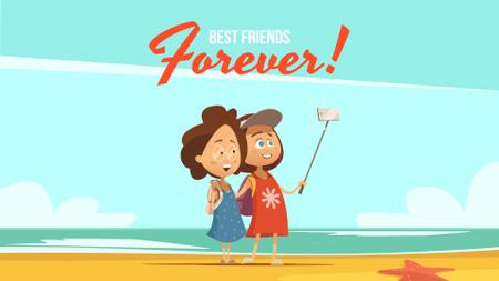 Plantilla de diseño de Travel Bloggers Friends Taking Selfie Full HD video
