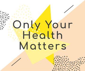 Healthcare Inspiration Quote Minimalistic Geometric Pattern