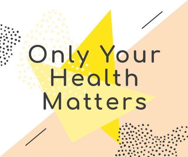 Ontwerpsjabloon van Large Rectangle van Healthcare Inspiration Quote Minimalistic Geometric Pattern
