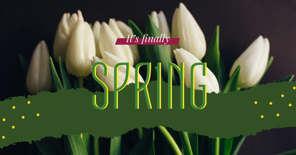 White tulips bouquet — Create a Design