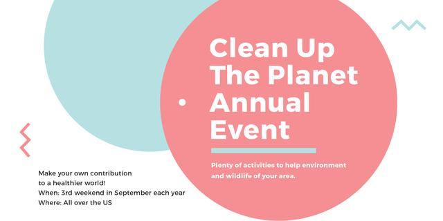 Ecological Event Simple Circles Frame Image Design Template