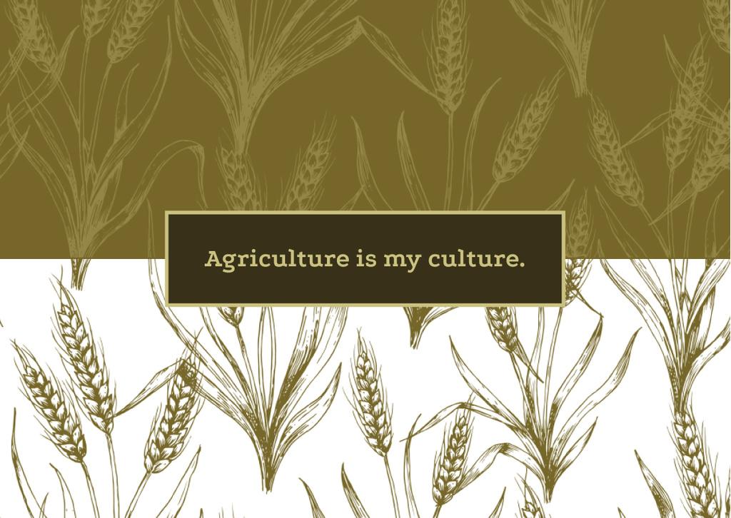Wheat ears pattern — Crea un design