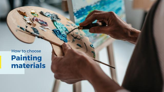 Template di design Painting materials Offer Presentation Wide